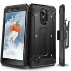 For LG K20 Plus: Evocel Full Body Case w/ Glass Screen Protector & Holster K20V