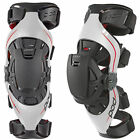 BRAND NEW POD K4 MX DIRT BIKE OFFROAD ADULT KNEE BRACES PAIR GREY/RED ALL SIZES
