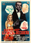 Dr No James Bond Vintage Italian Movie Poster $187.88 AUD
