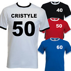 Personalised Printed T-Shirts NAME + NUMBER 50th 60th Birthdays, Stag, Sports