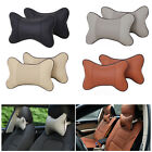 Car Seat Head Neck Rest Cushion Pad Travel Headrest Leather Pillow Comfortable