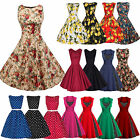 US Womens 1950s 60s Vintage Rockabilly Swing Dresses Retro Floral Cocktail Party