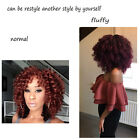 8inch Burgundy Wand Curly Crochet Hair Braids Afro Twist Synthetic Black Hair