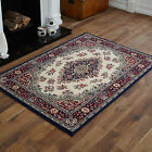 LARGE X LARGE SMALL TRADITIONAL NAVY BLUE CREAM LOW COST FREE POSTAGE RUGS MATS