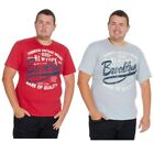 Mens Plus Size T-Shirt Trendy Top Big & Tall Shirt American Printed Stylish Tee
