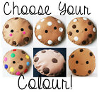 CHOOSE YOUR SIZE AND COLOUR COOKIE CUSHION PILLOW KIDS ROOM DECOR BISCUIT PLUSH