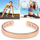 Retro Magnetic Healing Therapy Copper Bracelet Bangle Cuff Arthritis Pain Relief