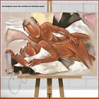 Pierre Farel Good Morning Framed Box Canvas Print Picture Nude Man Woman Bedroom