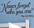 Never Forget Disney Lion King Wall Decal Mufasa Quote Vinyl Art Sticker Q06