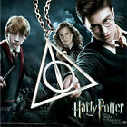 Cool Movie Harry Potter Deathly Hallows Triangle Pendant Silver Necklace Jewelry