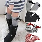 Brand New BUSHA Girl Ribbon Bowknot Knee High Socks Leggings/Leg Warmer 4 Colors