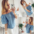 Fashion Womens Ladies Summer Loose Tops Short Sleeve Shirt Casual Blouse T-Shirt