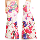 Floral Off-white Sublimation high waist fold over maxi long skirt (S/M/L/XL)