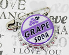 Grape Soda Bottle Cap Pin Ellie Badge - LP - Personalized