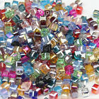 4/6/8mm White AB Square Cube Cut Glass Crystal Spacer Beads For Jewery Making S