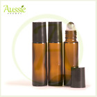 10 x10ml Thick Amber Glass Rollerball Bottle/Roll On Bottles/Steel Roller Ball