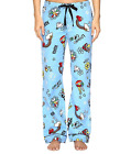 P.J. Salvage Womens Good Vibes Flannel Pajama Pants, Blue.