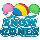 Frozen Treat Concession Decal sign cart trailer stand sticker equipment