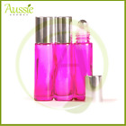 10 x10ml Thick Pink Rollerball Bottle/Roll On Bottles/Steel Roller Ball