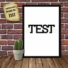 TEST Birthday Personalised Present Print wordart greeting poster
