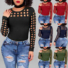 Womens Fashion Casual Loose Tops Long Sleeve T-Shirt Summer Blouse
