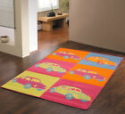 NEW LARGE EXTRA LARGE MODERN ORANGE BLUE MULTI COLOR RETRO CAR DESIGN RUGS SALE!