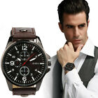 2016 Men's Sports Watches Men Watches Luxury Leather Quartz Wristwatches Relogio image