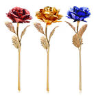 24K Gold Plated Dipped Rose Flower With Box Lover Gift Wedding Birthday Decor