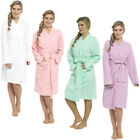 Ladies Raiken Waffle Bath Robe Dressing Lounge Cotton Spa Gown   Womens