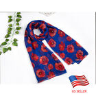 2017 Poppy Flower Soft Women Long Scarf Wrap Ladies Shawl Bikini Swimsuit Cover