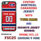 Custom MONTREAL CANADIENS Hockey Jersey phone Case Cover for iPhone 6 6 PLUS 5 4