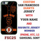 San Francisco Giants Baseball Jersey Phone Case personalized for Samsung etc