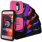 For LG Aristo LV3 Case EXO Rugged Armor Shockproof Kickstand Hybrid Hard Cover