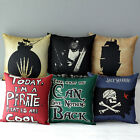 "17"" Pirates of the Caribbean Home Sofa Chair Throw Pillow Case Cushion Cover"