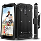 For LG Stylo 3 Case, Evocel Full Body Case w/ Glass Screen Protector & Belt Clip