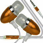 Aluminium Stereo In Ear-Earbud Hands Free Earphones Headphones+Microphone✔Orange