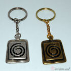 Greek Metal Keychain with Spiral Charm Silver Plated or Bronze Plated.