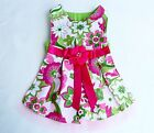 Couture Pink, Green Flower Print Dog Dress XS-MUSA Made  Dogs, Puppies, Cats