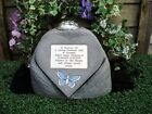 Personalised Butterfly Design Stone Memorial Heart and Flowervase Holder
