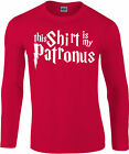 This Shirt Is My Patronus Longsleeve T-Shirt, Harry Potter wizard, Gift Top