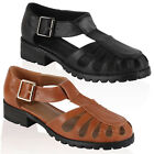 10V WOMENS FAUX LEATHER LADIES RETRO CUT OUT FLAT LOAFERS SHOES PUMPS SIZE 3-8