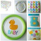 BOY OR GIRL BABY SHOWER DUCK PARTY SUPPLIES NAPKINS PLATES TABLE COVER AND MORE