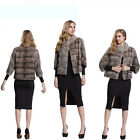 New !! 100% Real Natural Mink Fur Coat Jacket Outwear Sweater Fashion  Ladies