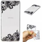 Cute Patterned TPU Ultra Slim Soft Clear Back Silicone Case Cover For Sony XZ M2