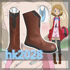 NEW Anime Pokemon XY Serena Cosplay Shoes Unisex Boots Customized