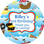 PIRATE SHIP GLOSS PERSONALISED BIRTHDAY PARTY BAG SWEET CONE THANK YOU LABELS