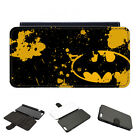 Leather Batman Logo Yellow Call Sign Joker DC Movie Phone Cover Case