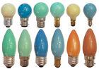 40w 240v Coloured Light Bulbs Golf Ball Globes and Candles, Bayonet & Screw Cap