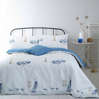 Beachcomber 100% Cotton Duvet Set Soft Cartoon Blue Sea Ocean