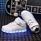 Latest Style Kid's USB Charging LED Flashing Lights 7 Colors High Tops Sneakers